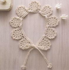 [모티브케이프] 모티브가 예쁜 미니 케이프 카라도안 Crochet Collar, Scarf Crochet, Crochet Doilies, Crochet Stitches, Crochet Accessories, Beautiful Crochet, Handicraft, Diy And Crafts, Crochet Earrings