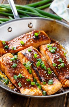 Quick and Easy Teriyaki Salmon is a sweet, salty and spicy dish! Perfect for family dinners.