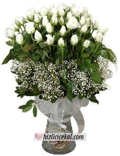 41'li Beyaz Gül Vazosu  Hızlı Çiçek Al ile sevdiklerinize aynı gün teslimat seçeneği ile cam fanus içinde 41 adet beyaz gül sipariş edin.  http://www.hizlicicekal.com/cicekler/cicekciler/cicek/78/41--li-beyaz-gul-vazosu/