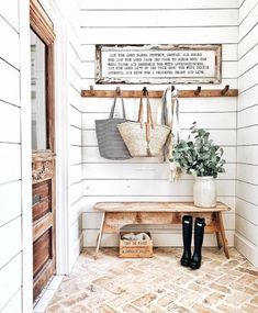 Stunning mudroom from Whitetail Farmhouse - love everything about it!