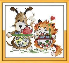 Good Value Cross Stitch Kits Beginners Kids Advanced Little Chef 11 CT 8X8 DIY Handmade Needlework Set CrossStitching Accurate Stamped Patterns Embroidery Home Decoration Frameless * You can find more details by visiting the image link.