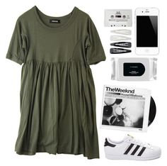 """""""waaat"""" by geenamichelle ❤ liked on Polyvore featuring Zucca, adidas, MAC Cosmetics, Forever 21 and CASSETTE"""