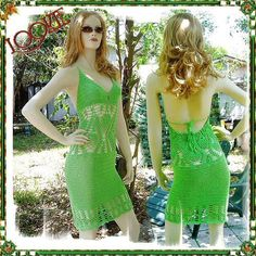 CUSTOM Crochet Dress - Wraparound Bella Middle Design - Made To Order with Snug Fitting Cotton-Elastic Crochet Thread - by LOOKIELABEL.COM