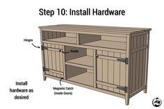 DIY Rustic Media Center Plans - Step 10