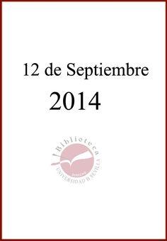 Novedades. 12 de Septiembre de 2014.