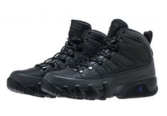 10a381b068e4d4 Air Jordan 9 Boot Color  Black Black-Concord Style Code  AR4491-