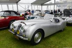 Jaguar built just 242 alloy-bodied roadsters, many of which have been converted to competition use. This particular example is a left-hand drive examp. Jaguar Xk120, Amelia Island, Antique Cars, Classic Cars, Vehicles, Autos, Vintage Cars, Vintage Classic Cars, Car