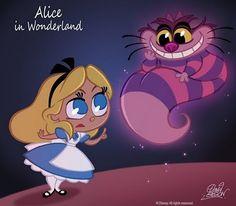 """Disney  Alice et le Chat du Cheshire """" Alice au Pays des Merveilles """""""