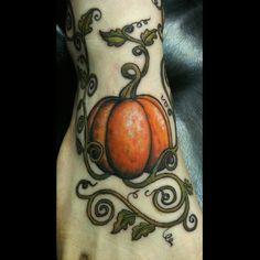 Foot tatter - Pumpkin tattoo by Pooch @ alteredstate.net