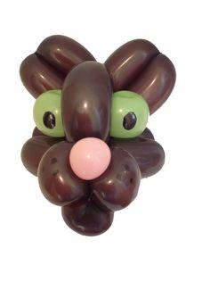 Balloon Cat head first draft. Balloon twisting, clown craft, balloon modelling. Balloon animal Kate Crebbin Eastgate