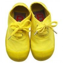Bright yellow bensimon shoes