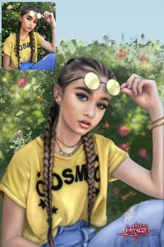 Braids by kayleemichaels on DeviantArt Copic Drawings, Girly Drawings, Realistic Drawings, Cartoon Drawings, Sarra Art, Girly M, Black Girl Art, Digital Art Girl, Dope Art
