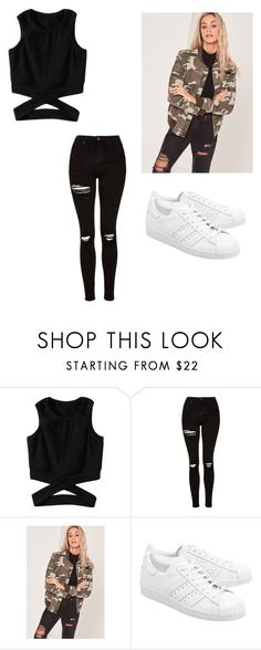 """Random"" by chanel-xox ❤ liked on Polyvore featuring Topshop, Missguided and adidas Originals"