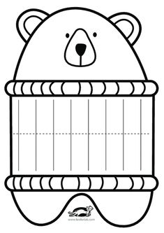 children activities, more than 2000 coloring pages - Style Magazine Kids Crafts, Bear Crafts, Winter Crafts For Kids, Preschool Crafts, Diy With Kids, Preschool Activities, Children Activities, Color Activities, Paper Weaving