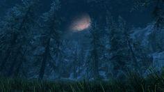 Skyrim Specal Edition Landscape Moon