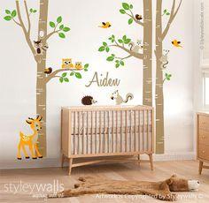 Etiqueta de la pared de árboles de abedul etiqueta por styleywalls