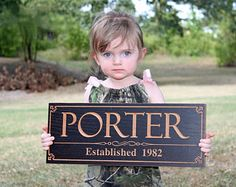 Wooden Last Name Sign, Wedding Date Sign, Personalized Wedding Sign, Parents Anniversary Gift, Benchmark Signs, Maple PP2