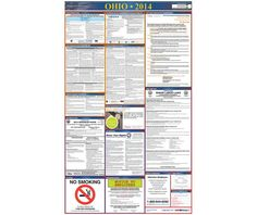 Labor Law Poster, OHIO, 39X27 STATE AND FEDERAL