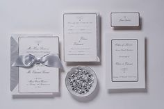 Luxury Silver Wedding Invitation Made With Foil Printing And Thermography, Complimentary Envelopes And Personalisation