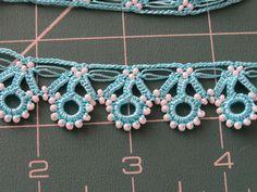 Oya beaded trim, colori turchesi di ColorsofRengin su Etsy https://www.etsy.com/it/listing/188459389/oya-beaded-trim-colori-turchesi