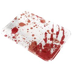 Halloween Blood Splatter Zombie All Over Glass Cutting Board