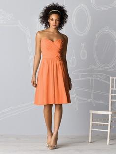 orange bridesmaid dress - clementine orange :)