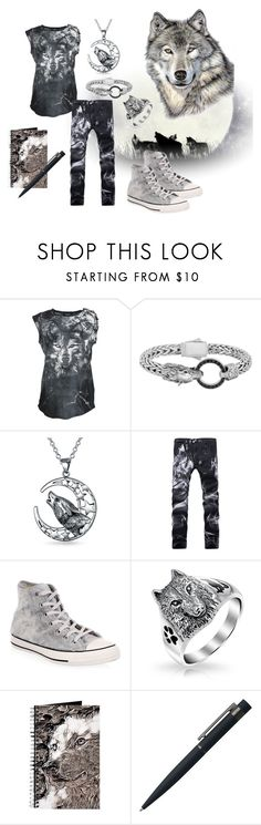"""Wolf"" by katymaybepsycho ❤ liked on Polyvore featuring Balmain, Phillip Gavriel, Bling Jewelry, Converse and John Lewis"