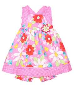 """Young Hearts """"Beauty Blooms"""" Dress with Diaper Cover (Sizes 12M – 24M) - Cookie's"""
