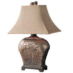 "Uttermost Atlantis Southwestern Xander 27"" H Table Lamp with Rectangular Shade  $185"