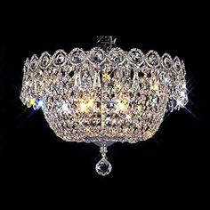 Nerisa chrome crystal flush mount chandelier chrome crystal flush this is from costco aloadofball Image collections