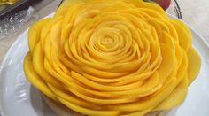 Tarta de mango en masa de coco