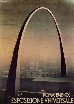 Manifesto per l'Esposizione Universale di Roma del 1942, cancellata per la seconda guerra mondiale