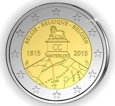 """Belgium planned to mint this coin in May 2015 to commemorate the 200th anniversary of the battle of Waterloo.  France objected and the Belgians cancelled all further production - 175,000 of the coins had already been minted.  The coin """"may"""" be offered as a limited edition within Belgium but will not circulate."""