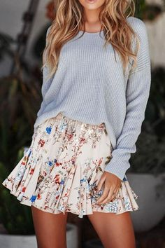 e Jupe Saias Mode Casual Jupes Femmes Faldas Casual Skirt Outfits, Cute Fall Outfits, Outfits For Teens, Spring Outfits, Trendy Outfits, Fashion Outfits, Womens Fashion, Summer Skirt Outfits, Casual Skirts