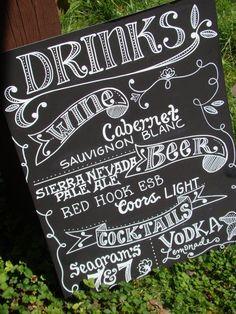 bar menu blackboard - Google Search