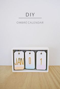 DIY Desk Calendar Water color cardstock