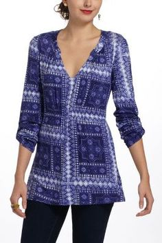 Antropologie - Delft Stamp Tunic