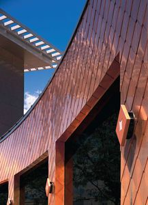 metal facade cladding: copper REYNOBOND COPPER ALCOA ARCHITECTURAL PRODUCTS