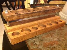 Custom wooden vape stand Benchmod model by WoodenCraftsman on Etsy, $40.00