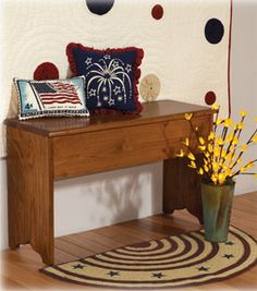 I could do this,with my table! americana+decorating | Americana Decor