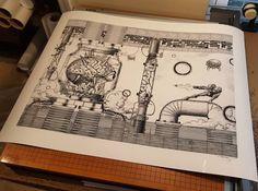 One of my favorites! My #vintage #engraving #style #retro #gaming series #metroid #nintendo #chozo #samus #samusaran #supermetroid #art #design #graphicdesign #illustration #digitalart #photoshop #etsy #artist #artwork