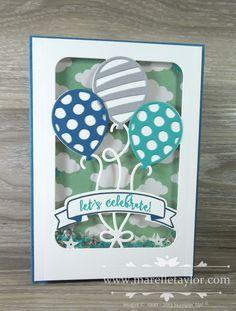 Marelle Taylor Stampin' Up! Demonstrator Sydney Australia: Party Pop-Up Shaker Card Birthday Card Pop Up, Daughter Birthday Cards, 21st Birthday Cards, Bday Cards, Handmade Birthday Cards, Diy Birthday, Handmade Cards, Up Balloons, Birthday Balloons