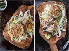 Salmon Fishcakes with Cabbage Slaw and Chia Seeds