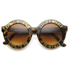 Women's Cross My Heart Hope To Die Womens Fashion Hipster Swag Sunglasses 9128