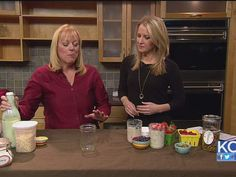 Kefir Breakfast Pudding: KCLive with Donna Schwenk of Cultured Food Life:  Kefir, oatmeal, fruit, sweetener, chia seeds. Leave in fridge and it thickens overnight! And soaks the oatmeal. :)
