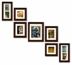 7-Piece Photo Frame Set for up the Stairs