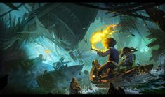 disneyland concept by ~0BO on deviantART  Will Terry has such a great eye IMO. Love this concept art...