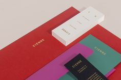 Cienne NY – Graphic Design and Branding by Lotta Nieminen Graphic Design Print, Graphic Design Projects, Graphic Design Branding, Stationery Design, Modern Graphic Design, Identity Design, Visual Identity, Brand Identity, Lotta Nieminen