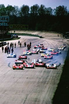 "itsawheelthing:"" sports car week … burning rubberstart of the 1971 di Monza, 'Trofeo Filippo Caracciolo'the brand new Ferrari of Jacky Ickx taking the lead at the start while the pole sitter, the Martini Porsche of Vic. Sports Car Racing, F1 Racing, Road Racing, Sport Cars, Motor Sport, Ferrari Racing, Nascar, Lamborghini Aventador, Classic Race Cars"