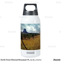 Devils Tower National Monument Wyoming Insulated Water Bottle
